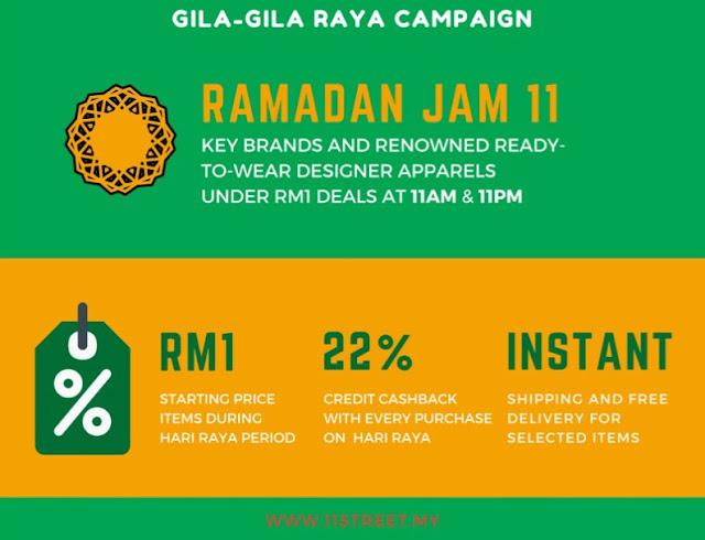 Gila Gila Raya campaign on 11street