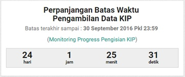 Batas Waktu Sinkronisasi Dapodik Versi 2016 untuk Pengambilan Data KIP