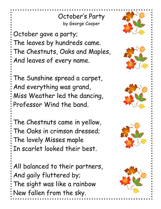 Just 4 Teachers: Sharing Across Borders: Pumpkin Poem and ...
