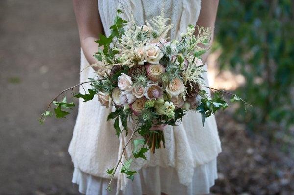 Prairie Sage : Wildflower Bridal Bouquet Trend For Fall 2013