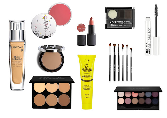 Sleek Makeup,Rodial Skincare,Lancome Cosmetics,Dr paw paw, MAC Cosmetics,Sigma Brushes