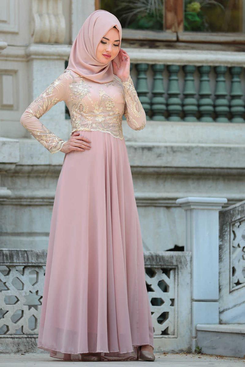jilbab kebaya pink peach