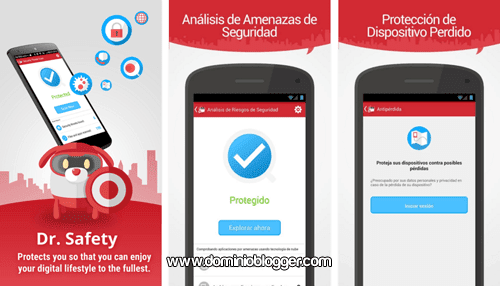 Proteccion de datos y antivirus movil con Dr Safety