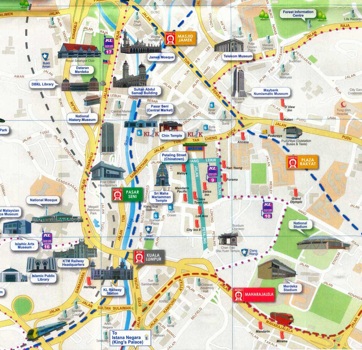 Malaysia: Map Of Kuala Lumpur, Malaysia