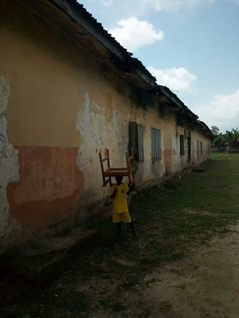 Photos: The deplorable state of a primary school in Sapele, Delta State