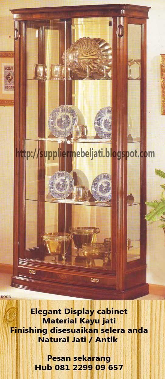 Jual Furniture Jati Mebel Jepara Lemari Pajangan Display