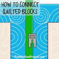 How to connect quilted blocks