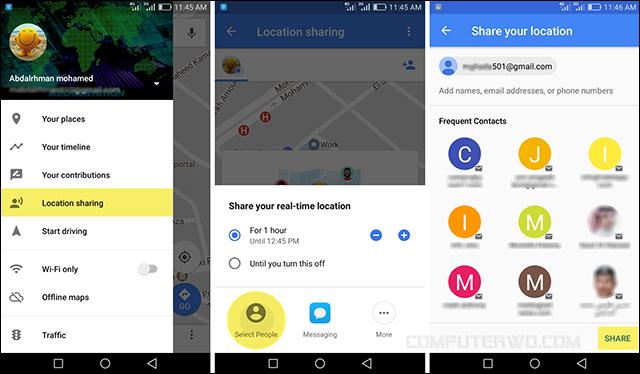 كيفية تتبع مكان صديقك بواسطة تطبيق خرائط جوجل على الاندرويد