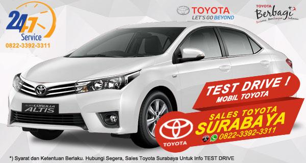 Info Test Drive Toyota Corolla Altis Surabaya