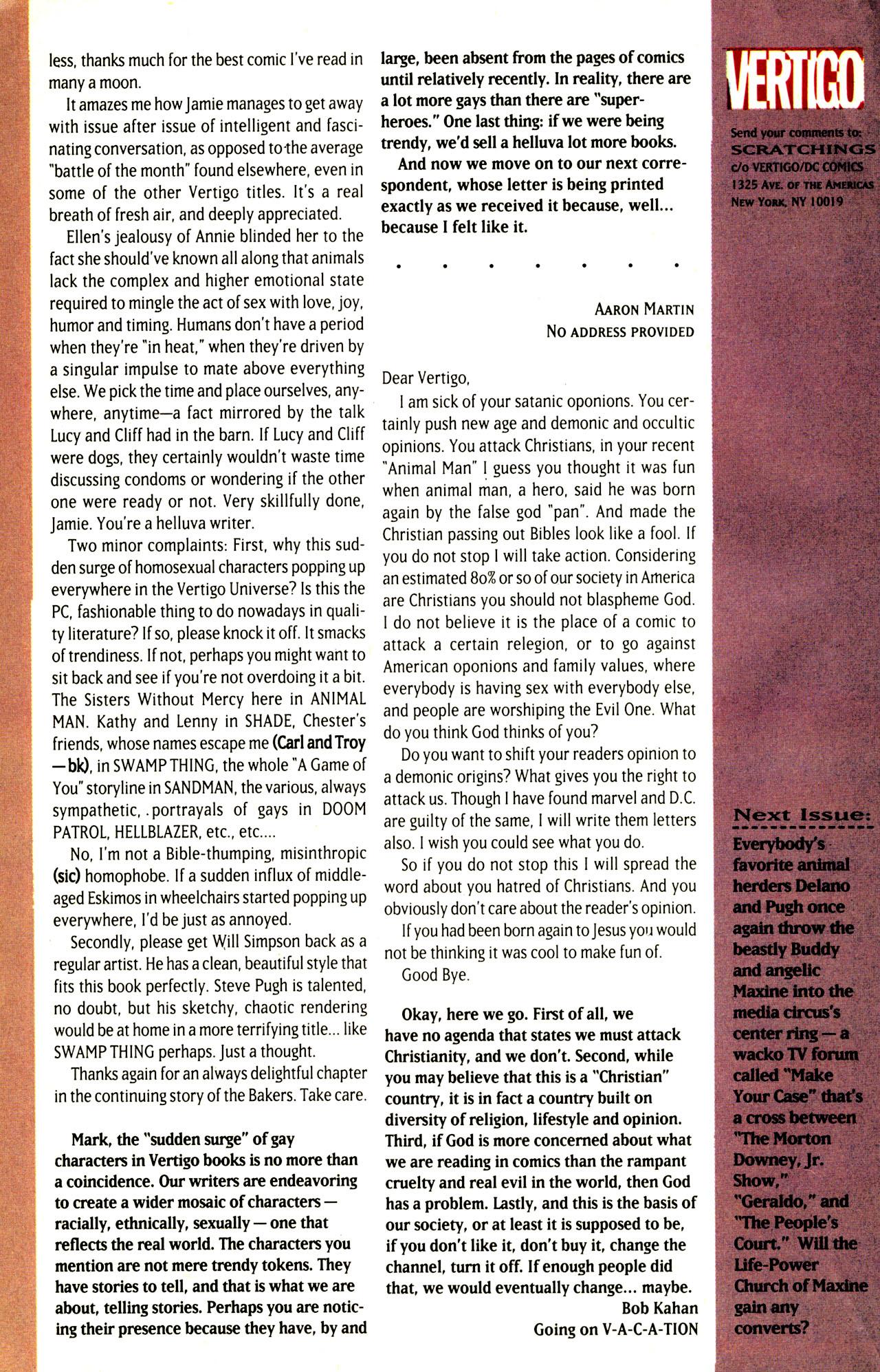 Read online Animal Man (1988) comic -  Issue #72 - 27
