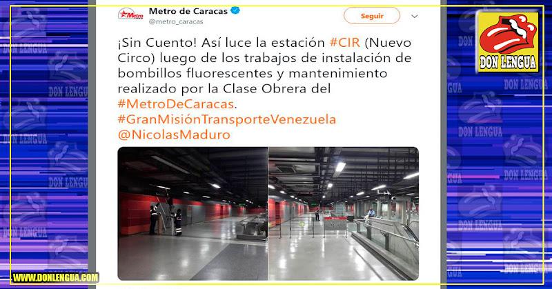 El Metro de Caracas - Orgullosos por cambiar unos bombillos quemados