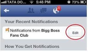stop fb notification