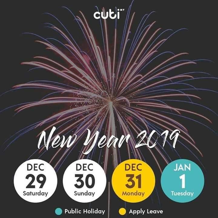 Rancang Percutian Anda Pada Tahun 2019