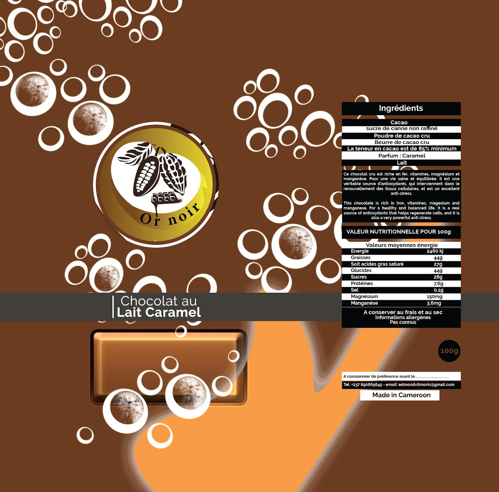 Chocolat au Lait Caramel - Or noir