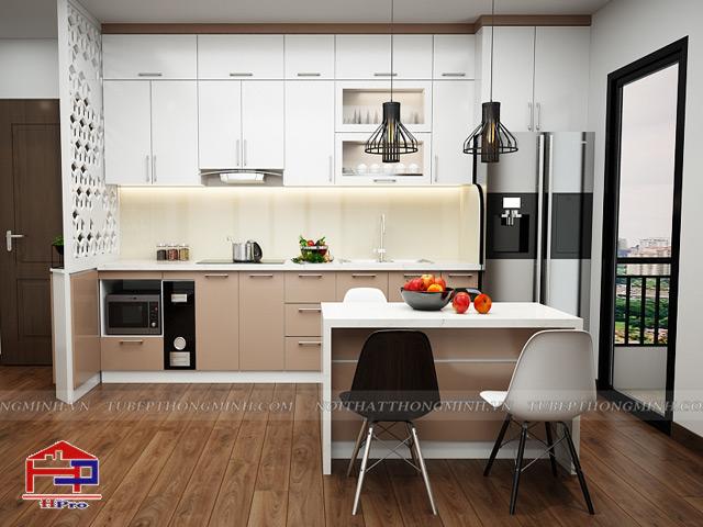 Mẫu thiết kế tủ bếp nhựa acrylic -1