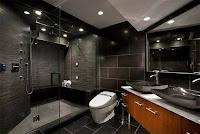 baño interior negro