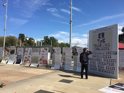 Striking Street Display and Exhibition Illustrating the Terrible State of Human Rights in Iran