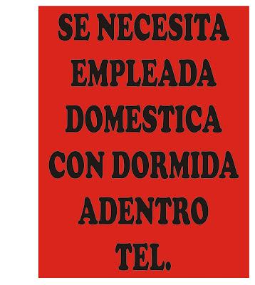 se busca empleada doméstica - busco empleada doméstica - necesito empleada domestica