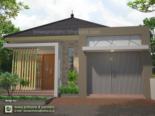 bowo prihatno & partners: Desain Rumah Toko Dua Muka