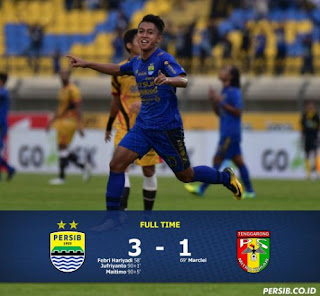 Video Cuplikan Gol Persib Bandung vs Mitra Kukar 3-1