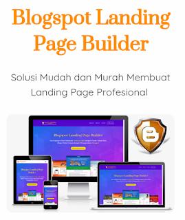 Jual Template Landing Page Blogspot