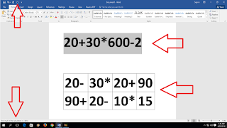 Amazing Trick to Do All Calculation in MS Word,how to calculation word,Calculation in ms word,formula for ms word,ms word calculator,product,minus,plus,_ +* % /,sum,divided,ms word table calculation,how to calculate,text calculate,best calculator for ms word,word 2003,2007,2010,2016,how to do calculation in table,column,how to link formula in word,cell,row,total,how to do,add,excel calculation in word,add calculator,percentage,into Do all types of calculations in MS word for table value and as well as text value  Click here for more detail...