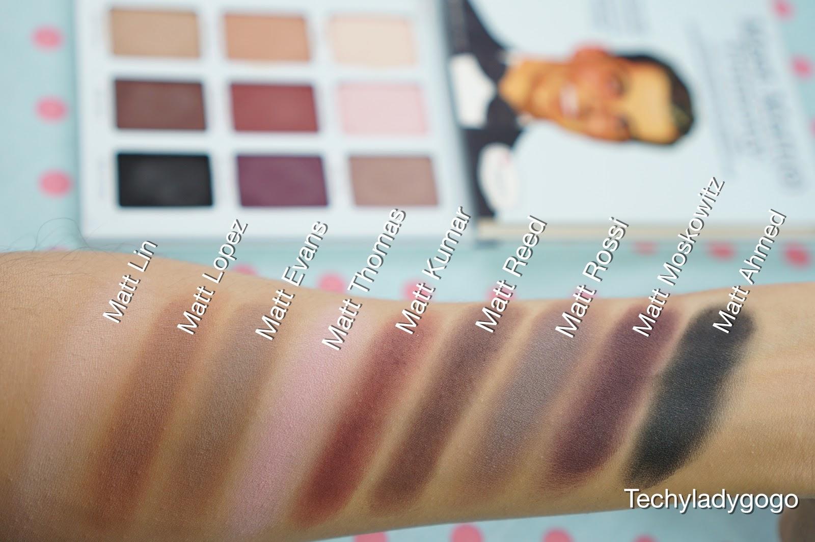 The Balm Meet Matte TRIMONY Swatch รีวิวอายชาโดว์พาเลท eyeshadow palette เนื้อแมตท์ใหม่ 9 โทนสี