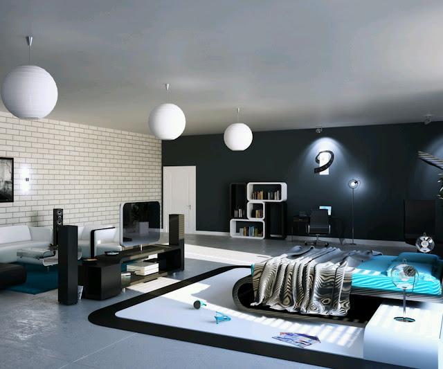 chambre moderne design. Black Bedroom Furniture Sets. Home Design Ideas