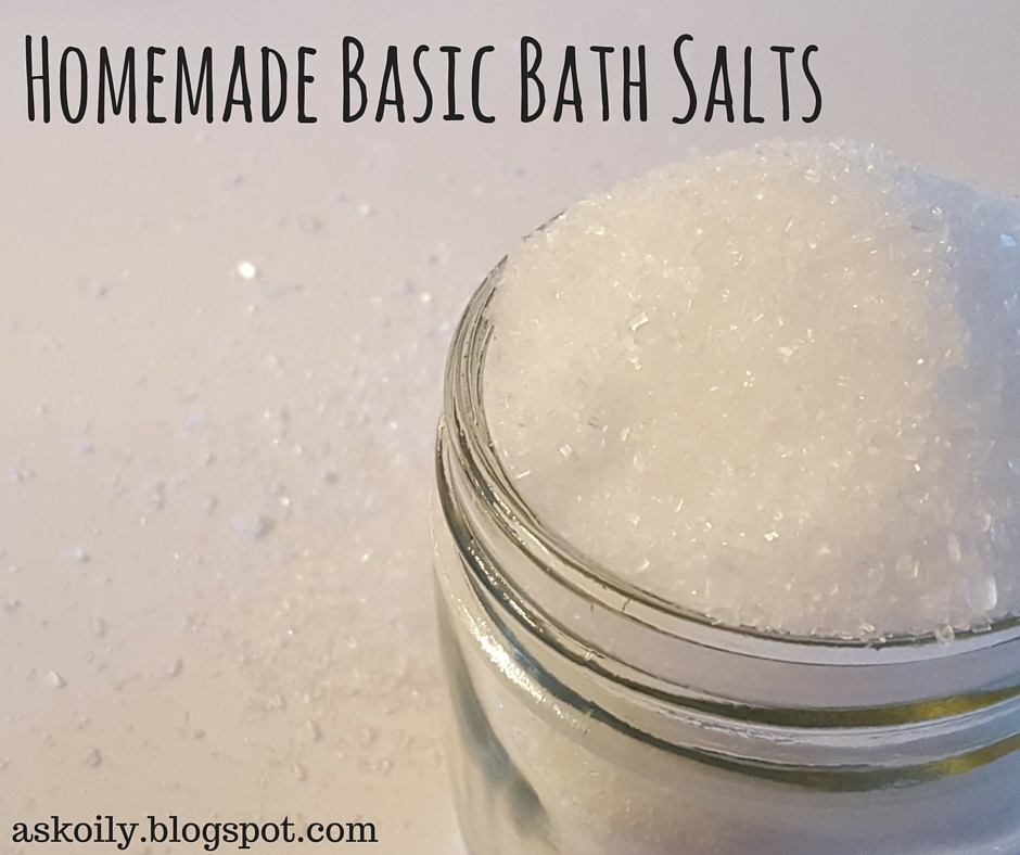 homemade DIY basic bath salts with essential oils recipe | Hot Pink Crunch