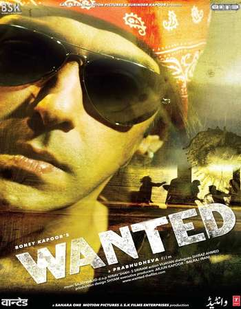 Poster Of Wanted 2009 Hindi 450MB BRRip 720p HEVC Watch Online Free Download Worldfree4u