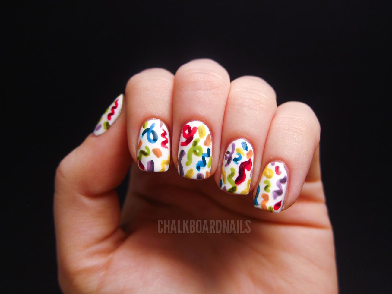 It S My Birthday Chalkboard Nails Nail Art Blog