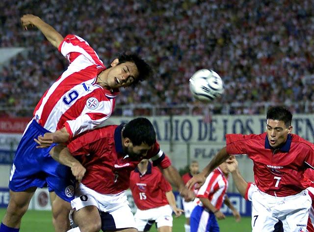 Paraguay y Chile en Clasificatorias a Corea/Japón 2002, 2 de junio de 2001