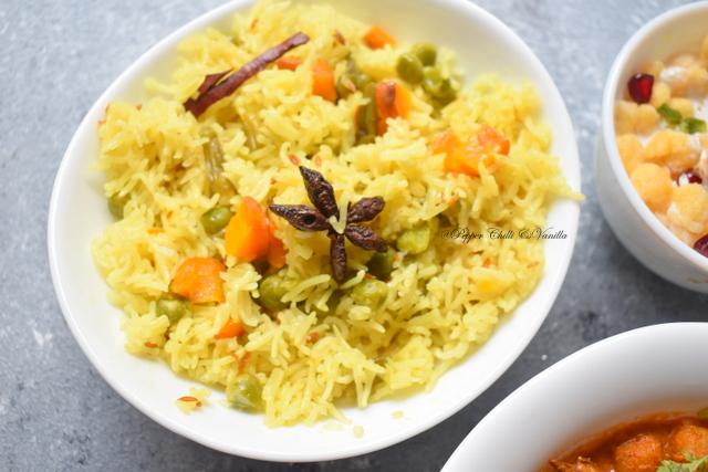pressure cooker veg pulao recipe