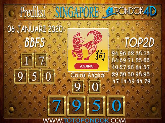 Prediksi Togel SINGAPORE PONDOK4D 06 JANUARI 2020