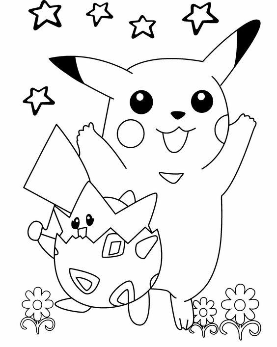 Tranh tô màu Pokemon 00