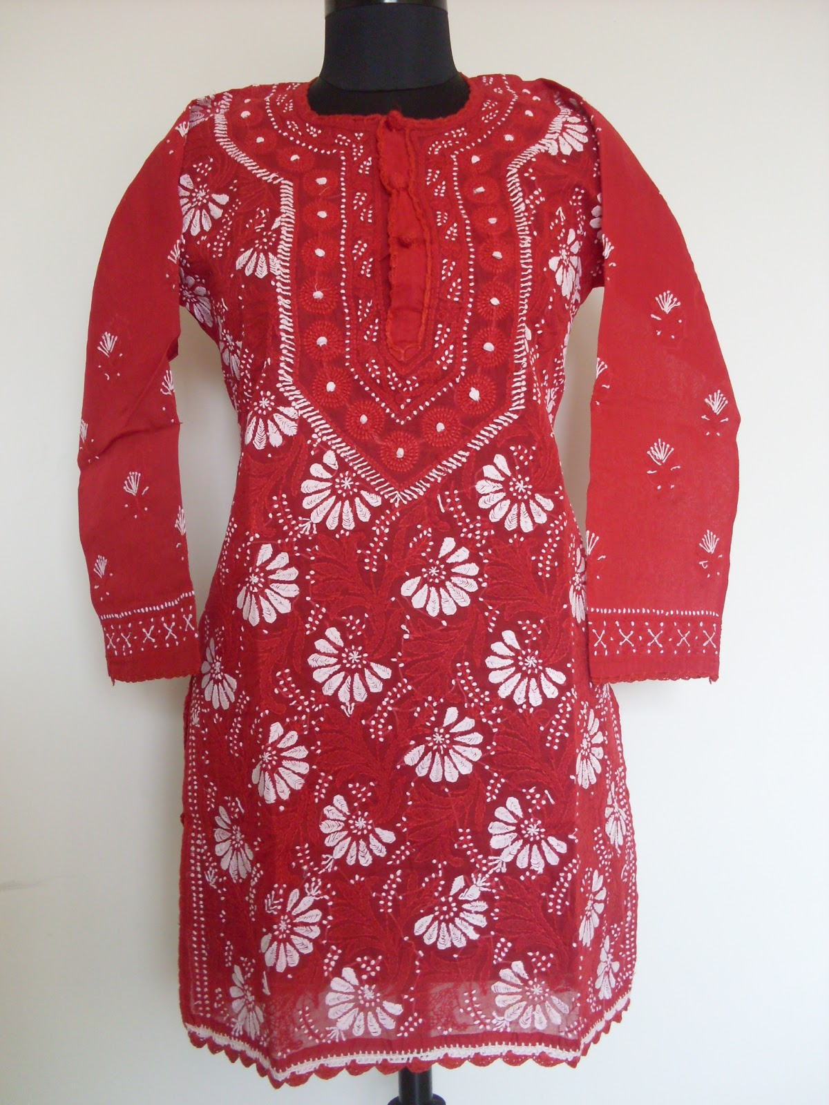 Trendy Kurti Patterns With Hand Embroidery In Chikankari