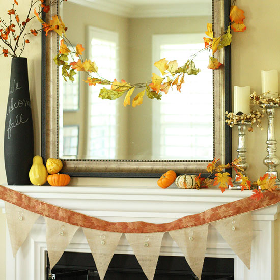 365 Tips To Improve Your Home 99 Create Beautiful Fall Mantel Decorations