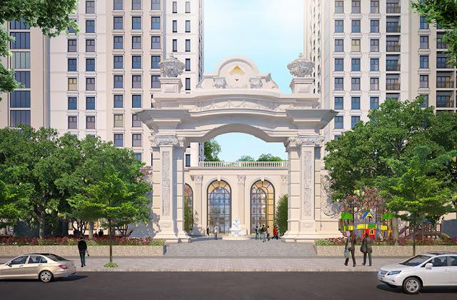 Cổng chính dự án Athena Fulland