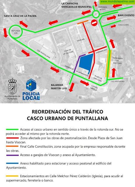 Puntallana reordena el tráfico en su núcleo urbano