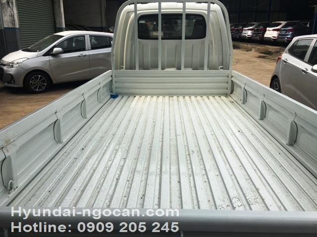Video xe tải Hyundai 1 tấn H100 thùng lửng màu trắng bản ga điện IMG 3009