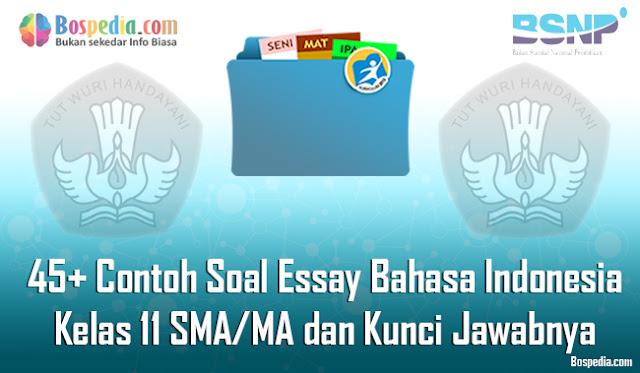 45+ Contoh Soal Essay Bahasa Indonesia Kelas 11 SMA/MA dan Kunci Jawabnya Terbaru