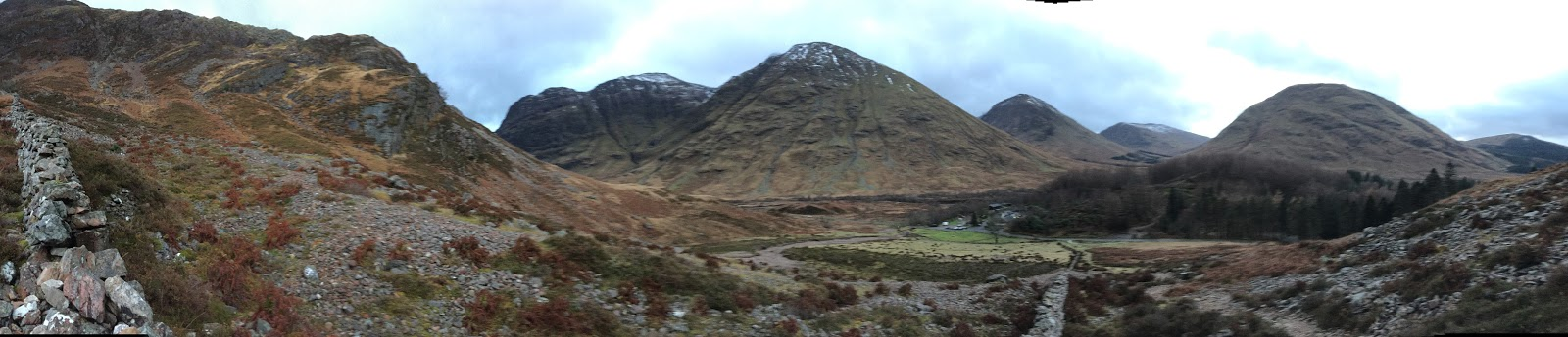 Glencoe Scotland Top of Harry Potter Hill Three Sisters