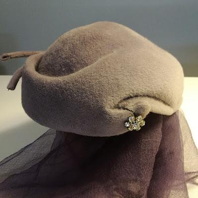 beautiful old felt hat