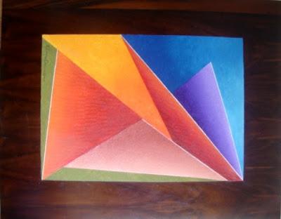 Pintura em técnica mista sobre madeira, criação de Elma Carneiro