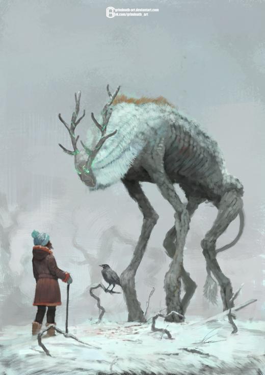 Oleg Bulakh deviantart artstation arte ilustrações ficção científica fantasia sombria terror cósmico lovecraft criaturas