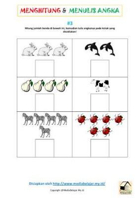 Menghitung Jumlah Benda dan Menuliskan Angkanya Bagian 3