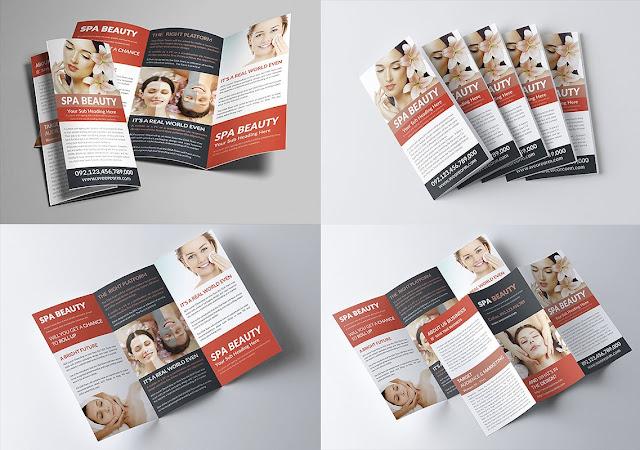تصميم بروشور مفتوح psd جاهز للتعديل تصميم صحة وجمال