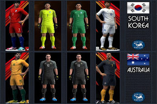 Kits South Korea And Australia 2016 Pes 2013
