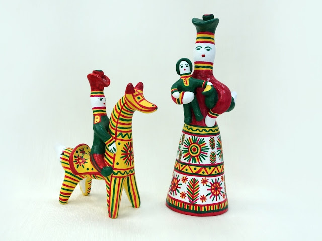 Traditional clay figurines from Russia, Filimonovo toys
