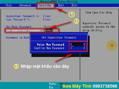 Đặt mật khẩu Bios - H01